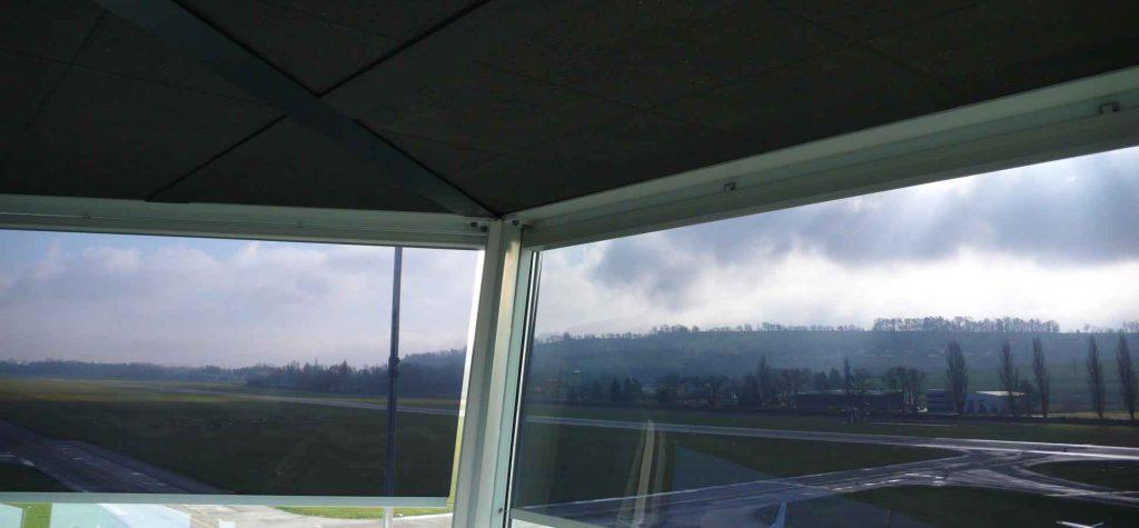 Air traffic control tower shading