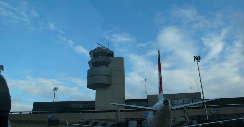 Air traffic control tower shades