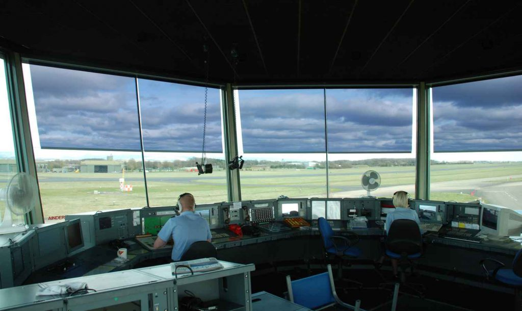 air traffic control blinds